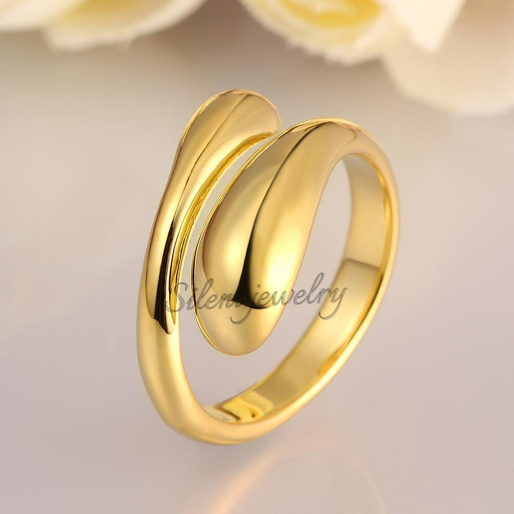 free shipping Trendy New Simple Design Brass Without Stone Wedding ...