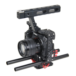 15mm Rod Rig DSLR Camera Video Stabilizer Cage Kit w/ Top Handle Grip for Sony A7 A7S A7RII A6300 A6000 /GH4 GH3 /EOS M5 M3