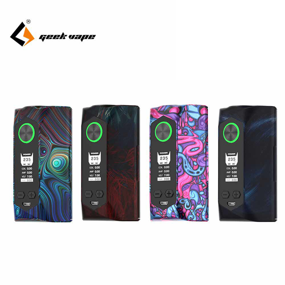 Newest Color Geekvape Blade mod 235W with aircraft grade material Blade Box MOD Support 18650 20700