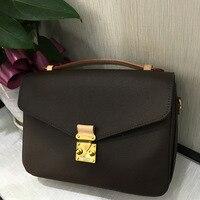 Одежда высшего качества Элитный бренд Для женщин МЕТИС сумка Классическая сумка кожа с холст монограмма моды плеча сумочку Бесплатная DHL