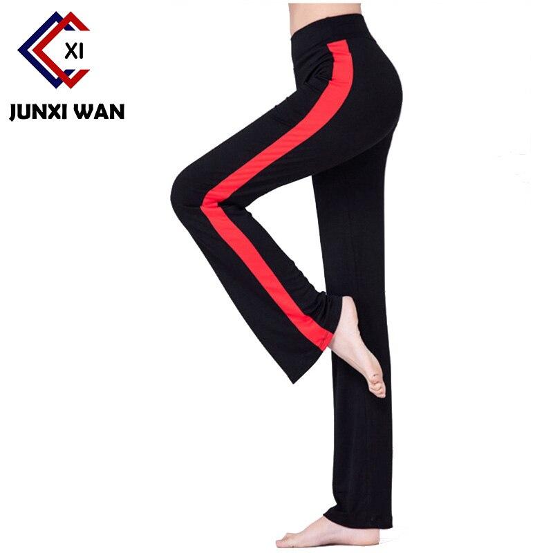 Prix pour Marque Modal Femmes De Yoga Plus La Taille Patchwork De Danse Yoga Pleine Longueur Leggings Fitness Course Stretch Taille Haute Pantalon WK0118