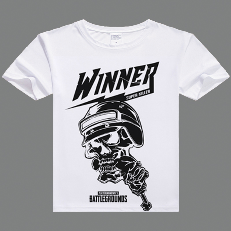 Game Pubg Couple T Shirt Cartoon Playerunknowns Battlegrounds Print White T-shirt Fashion Couple Casua Man Tshirt Tops & Tees