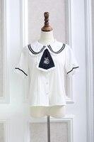 Princess Sweet Lolita Japanese Shirt Beautiful All Match Preppy Style Shirt Peter Pan Collar Shirt QQ009