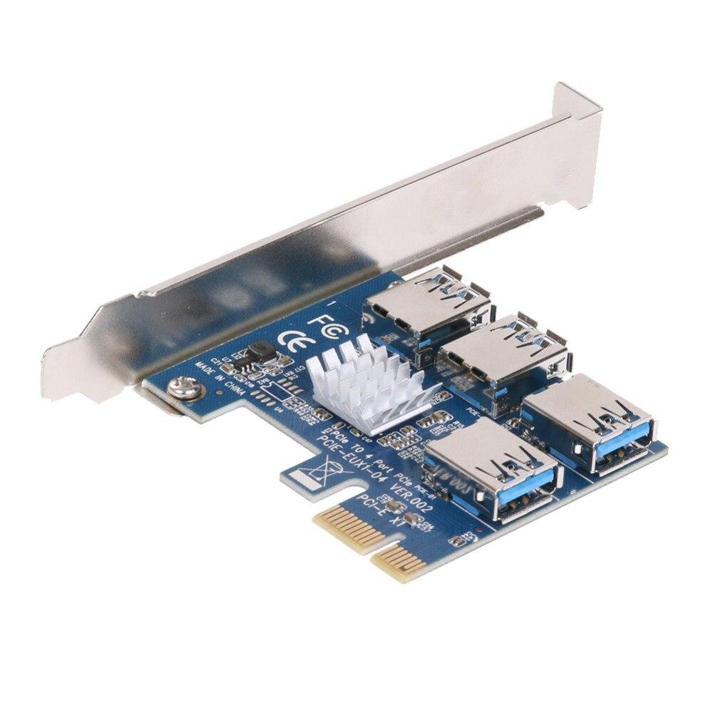 Pcie 1 a 4 pci express 16x slots riser cartão pci-e 1x para externo 4 pci-e slot adaptador pcie cartão multiplicador para bitcoin miner