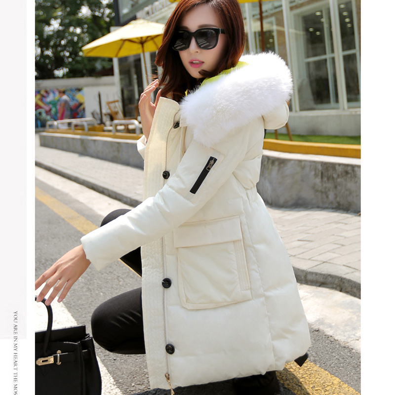 ФОТО 2016 winter women coat Wadded jacket  female medium-long lady thickening casual down wadded coat parkas winter jacket women