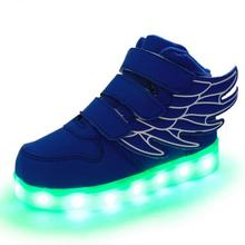 New Fashion Luminous Shoes Boys Girls Casual Sneakers Children USB Charging Colorful LED Light Shoes Kids Lighted Flats 04