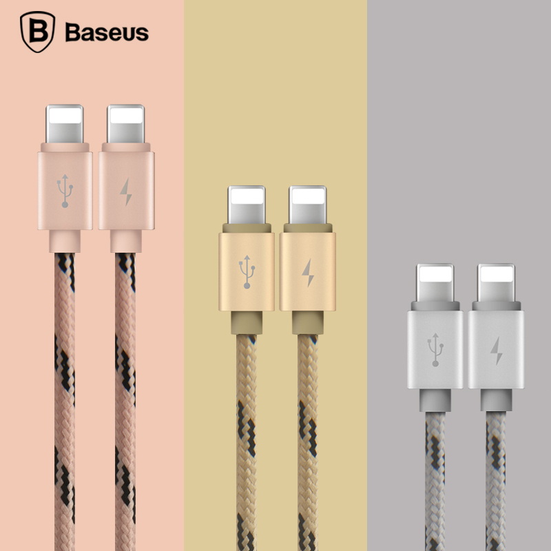 Baseus 2 In 1 Dual 8pin For Lightning To USB Cable For IPhone 6 6s 5s