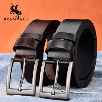 JIFANPAUL Factory custom  mens belt leather brand men new classic retro pin buckleJapanese word buckle