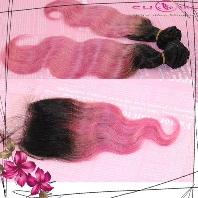 3pcs Ombre Hair Body Wave Brazilian Human Remy Hair Weave Color1b