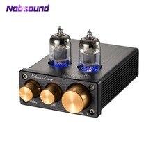 Nobsound 2020 mini válvula amplificadora, pré amplificador com tubo de vácuo hifi, áudio 6j1, com controle de volume agudo e graves, NS 10P audiofile preto