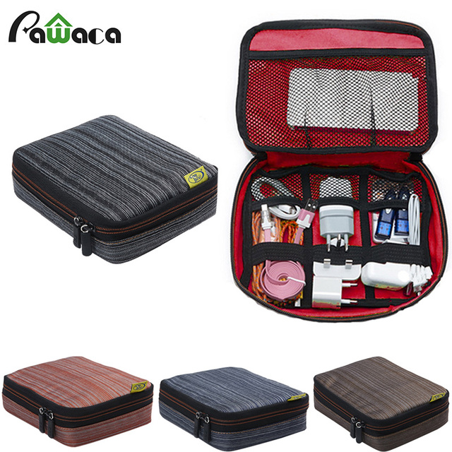 Portable Travel Waterproof Usb Cable Storage Bag Electronic Accessories Organizer Devices Charger Data Line Carry Case