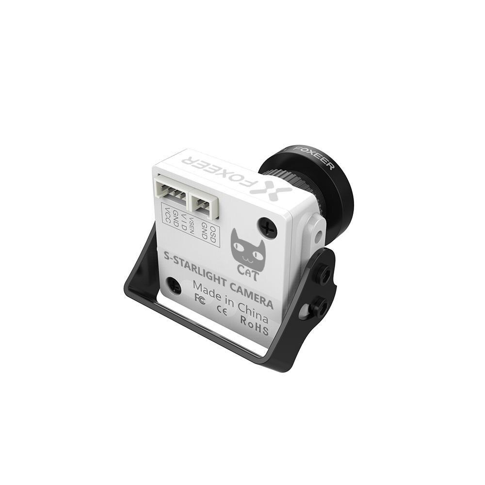 Foxeer CAT Super Starlight FPV caméra 0.0001lux faible latence caméra de vol de nuit FPV 16:9/4:3 PAL/NTSC commutable 5 ~ 40 V Support - 5