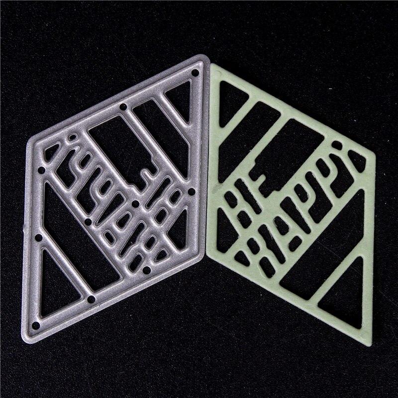 Matrices de coupe en métal pour bricolage Scrapbooking découpées avec des matrices nouvelles 2018 coupes pour la fabrication de cartes en papier artisanat gaufrage Photo diamant moule