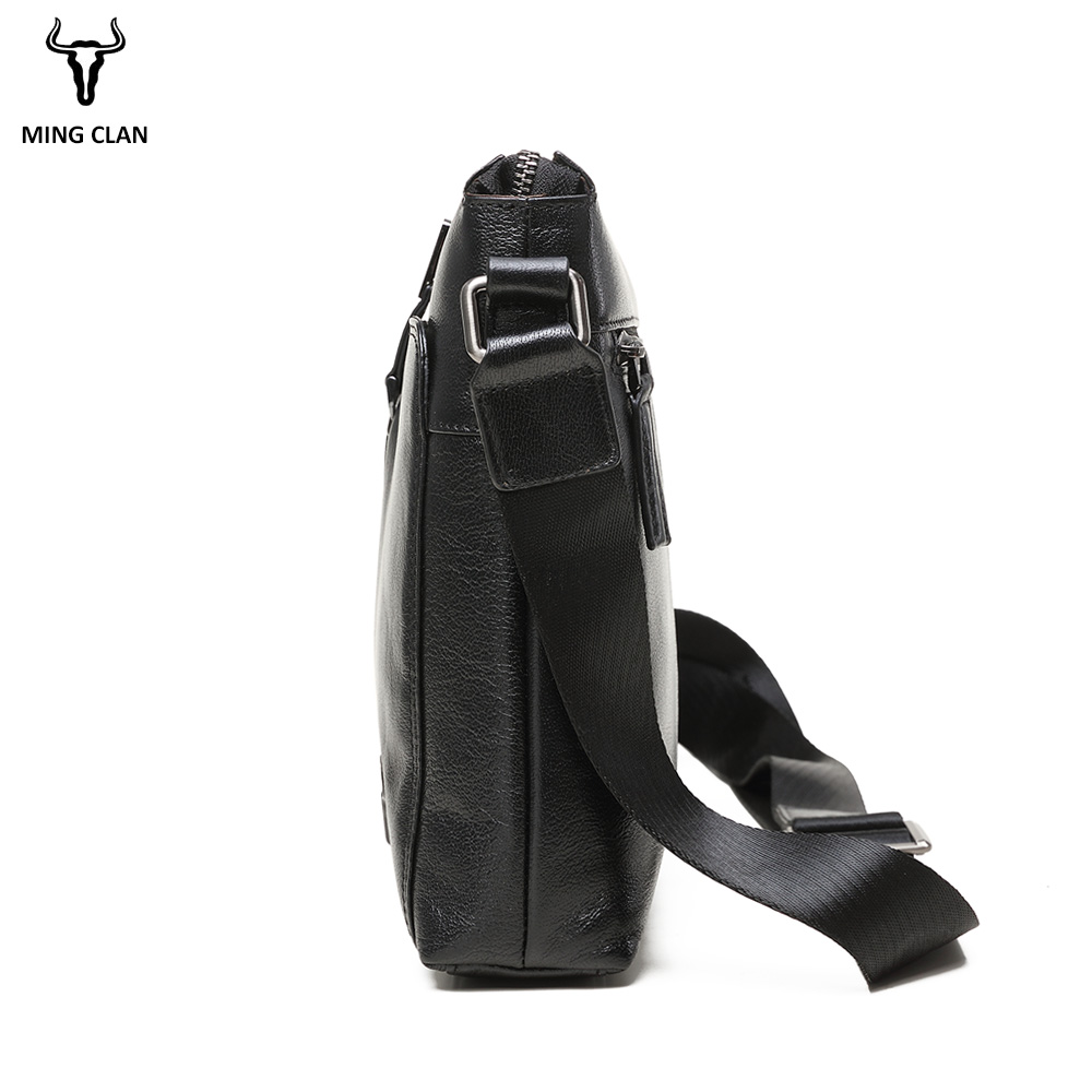 Koeienhuid Lederen Schoudertas Luxe Cross Body Bags Veelzijdige Lederen Tas Mannen Zakelijke Zwarte Messenger Bag Mannen Lederen - 5