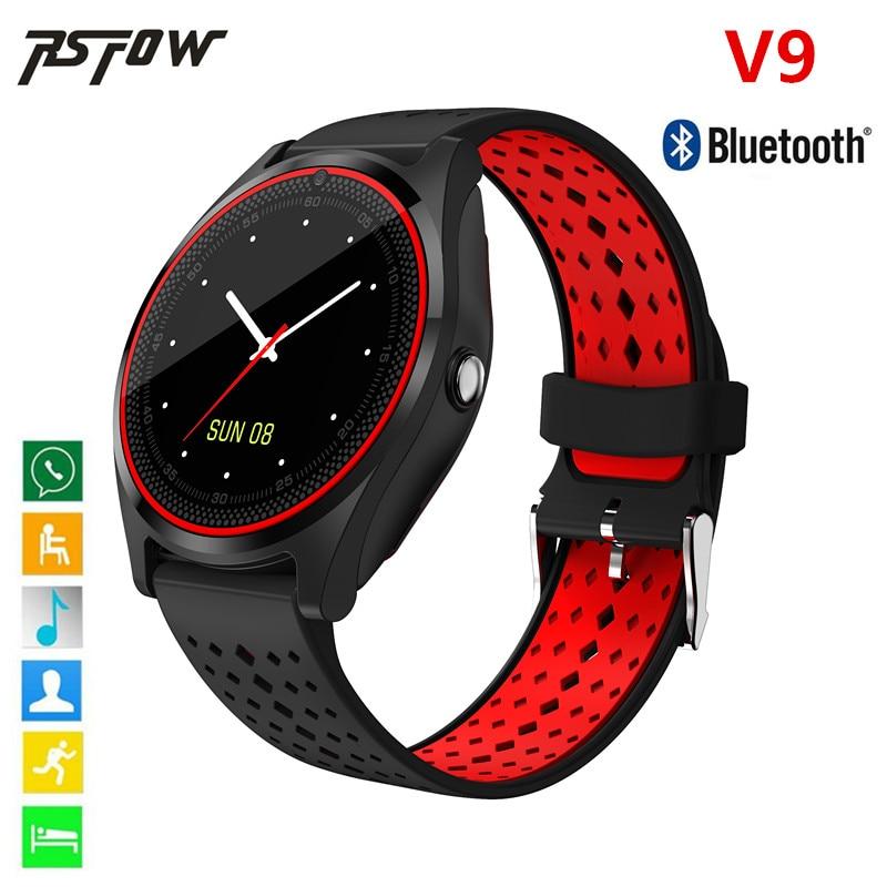 V9 Intelligente Orologio Bluetooth Supporto 2G SIM 8G Carta di TF fotocamera Pedometro Salute Sport Ore Orologio Donne Degli Uomini della vigilanza Per Android e IOS