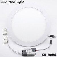 YNL de alto brillo llevó la luz de la lámpara del Panel AC 220V 3W 4W 6W 9W 12W 15W 18W foco de techo lámpara de panel redondo
