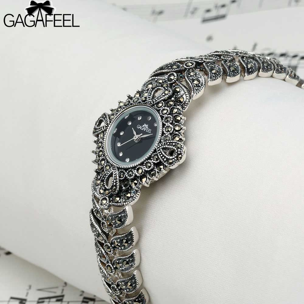 100 925 Sterling Silver Watch Lady Women Thail Silver Wristwatch Quartz Bracelet Watch Silver Watch Woman