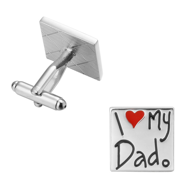 High quality KC star milk I my father fathers Day gift Cufflinks copper men Cufflinks wholesale manufacturers