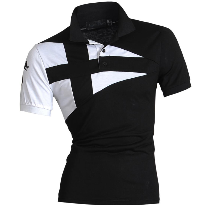 New 2019 Mens Summer Fashion Casual   Polo   Short Sleeves Shirt Designed Shirt Slim Fit Trend Solid color 5 Colors S M L XL U009