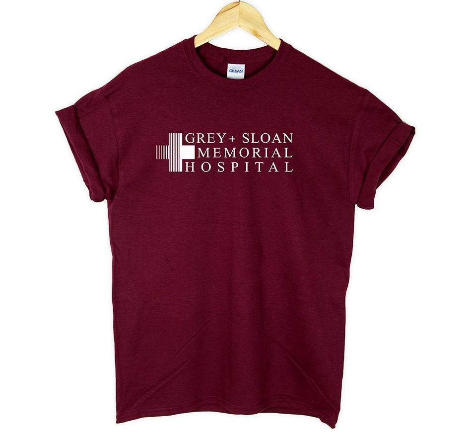 Grey Sloan Memorial Hospital Women Tshirt Casual Cotton Hipster Funny T-shirt Gift For Lady Yong Girl Top Tee Drop Ship ZY-278