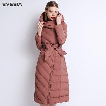 SVESIA 2018 хлопковая стеганая куртка мужские парки для женщин стандартный воротник теплые пальто для будущих мам женские офисные женские туфл