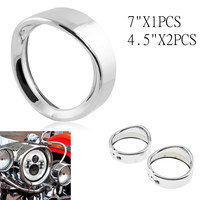Trim Ring For Road King Electra Glide 7 inch Headlamp Headlight Trim Ring 4.5 inch led passing Visor Trim ring