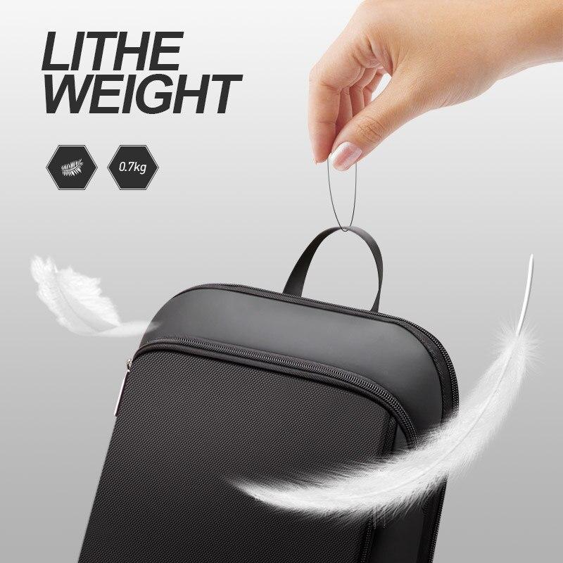 BOPAI Slim mężczyźni plecak cienkie Ultralight plecak na laptopa do 15.6 cal moda urząd pracy wodoodporny plecak biznesowy dla mężczyzn w Plecaki od Bagaże i torby na  Grupa 2