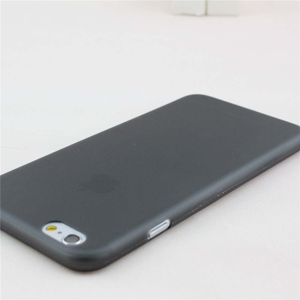 apple iphone 6 black. aliexpress.com : buy 0.3mm ultra thin case for iphone 6 6s slim matte transparent cover apple frosted crystal clear phone from iphone black