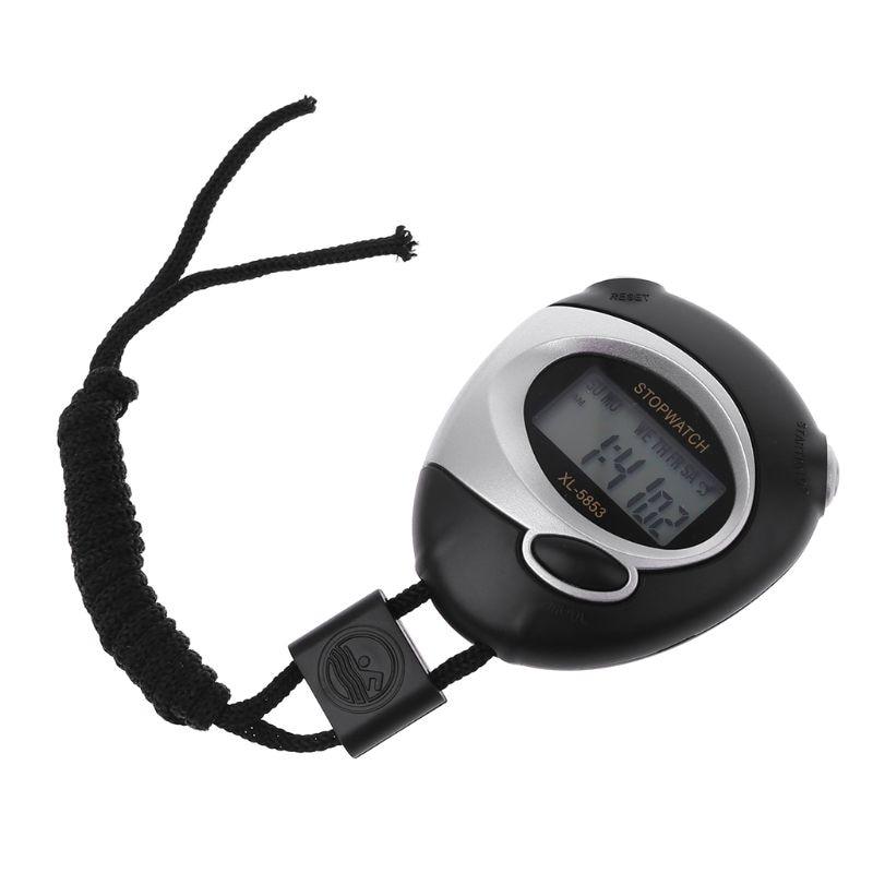 Cronômetro de esportes contador temporizador cronógrafo lcd