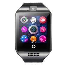 2018 Bluetooth smart watch Q18 support SIM card pedometer smart watch for Huawei Samsung xiaomi smartphone
