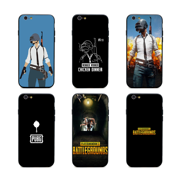 Game Pubg Logo Phone Cases Tpu Pc Black Covers For Iphone X 6 6s 7 8