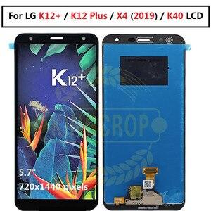 Image 1 - Pantalla LCD para LG K12 + MONTAJE DE digitalizador con pantalla táctil para LG K12Plus LCD X4 (2019) LMX420 LCD para LG K12 Plus lcd