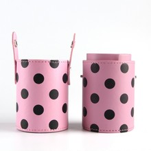 Travel PU Leather Cosmetic Makeup Brushes Pen Holder Storage Empty Holder Makeup Bag Brush Organizer Make Up Tools Hot
