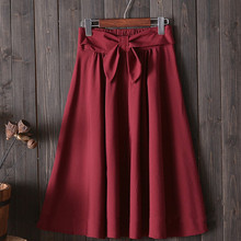 Belt A-line Skirt EL7F0