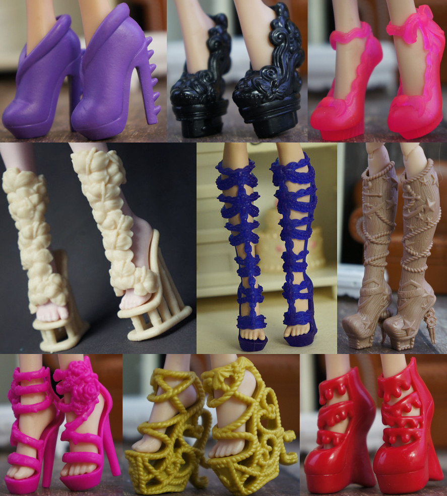 2019 New Fashion Doll Shoes Long Boots Shoes For Monster High Doll Cute Doll Accessories Muti-styles 1/6 Doll Shoes Original