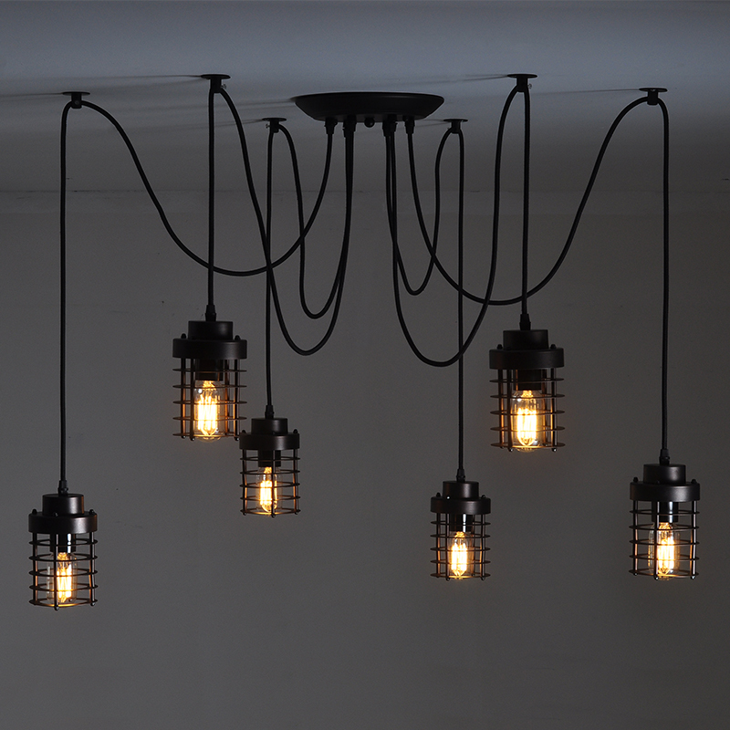 mutilple arm edison bulb pendant chandelier modern vintage. Black Bedroom Furniture Sets. Home Design Ideas