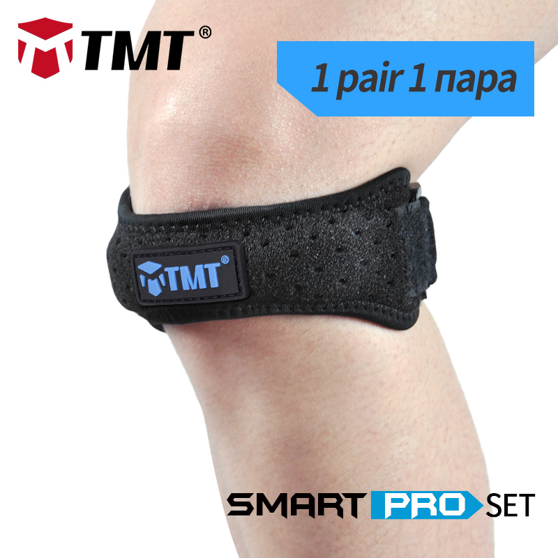 TMT Breathable honeycombed cloth mesh Patella Protector Silicone Gasket volleyball Basketball Guard Knee Support Brace Sleeve