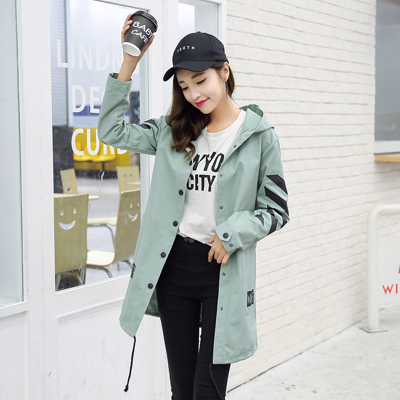 Long   Jacket   Women New Fashion Women's   Basic     Jacket   Fashion Windbreaker Coat Outwear Female 2019