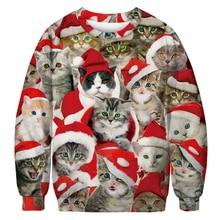 Pullover Women Print Christmas Hat Sweatshirt Casual Cute Harajuku Streetwear Womens Kawaii Clothes Plus Size M-3XL Fall 2019