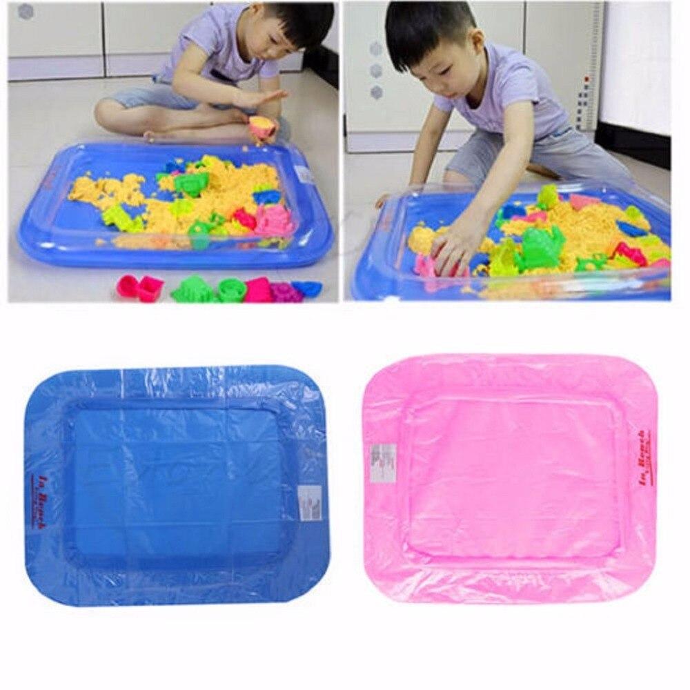Nieuwe Opblaasbare Zand Lade Kasteel Mobiele Tafel Multifunctionele Zand Mold Plastic Kinderen Kids Klei Kleur Modder Speelgoed Indoor Spelen Zand Nieuw (In) Ontwerp;