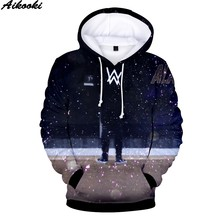 Hoodies Men/Women Alan Olav Walker Hip Hop Sweatshirt Harajuku Tops 3D Print Alan Walker Mens Hooded top Sweatshirt clothes coat(China)