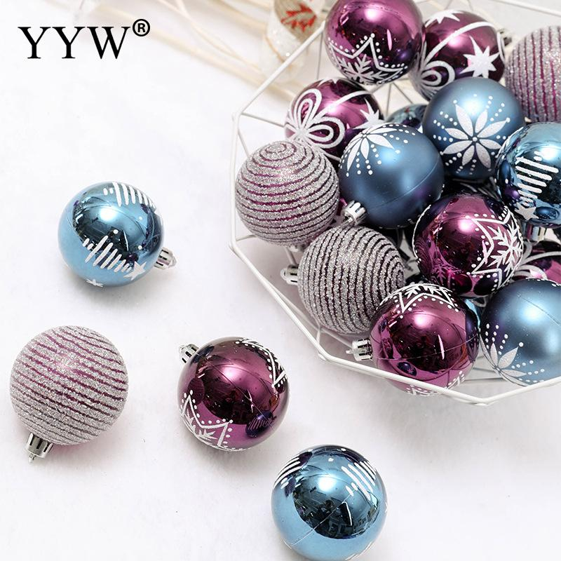 100PCS//Set Christmas Xmas Tree Ball Bauble Hanging Home Party Ornament Decor Lot