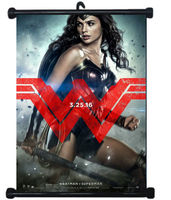 Wonder Woman Sexy Girl Justice League USA Hero Wall Scroll Poster Mural Decor #4 80x60cm