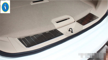 цена на Yimaautotrims Rear Trunk Bumper Sill Plate Protector Guard Cover Trim Fit For Nissan x-trail X Trail / Rogue 2014 2015 2016