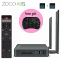 ZIDOO X9S Android 6.0 Caixa de TV Realtek RTD1295 Quad Core 2G/16G HDMI OUT/IN KODI Set Top Box Media Player Com mini i8 teclado