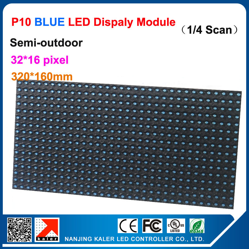 TEEHO P10 Led Modules 14 Scan 32*16 Pixel 10mm Blue Panel Led Display Screen For Graphics Card Led Sign Module Led Screen Module