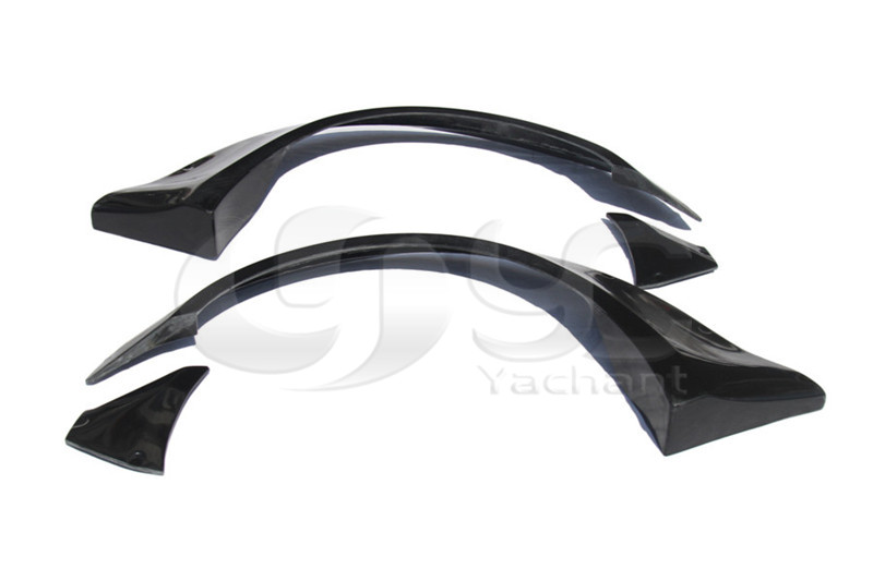 Fiber Glass FRP Wide Body Kit Fit For 2008-2015 G25 G35 G37 G Series Coupe LB Stage Style Front Fender Rear Fender Flares 8 Pcs