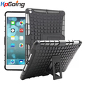 New Style Patchwork Dual TPU PC Armor Heavy Duty Hard Stand Cover Case for Apple IPad Air Case for IPad 5 Tyre Skin Robot Case