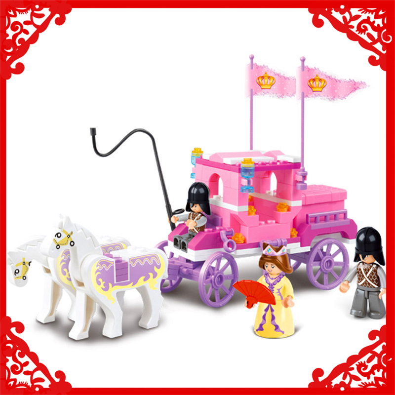 SLUBAN 0250 Block Princess Royal Carriage Wagon Model 137Pcs Educational  Building Toys Gift For Children Compatible Legoe купить mitsubishi cedia wagon москва