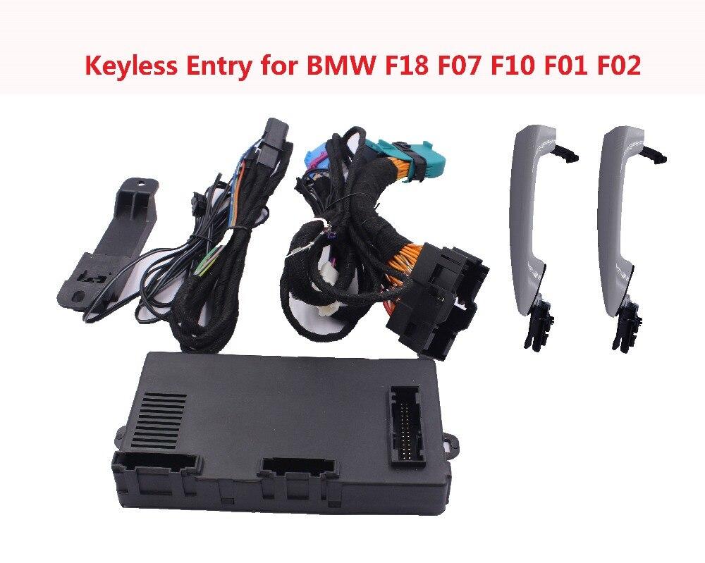 Système d'entrée sans clé à distance PKE Kit de verrouillage Central d'alarme de voiture avec fenêtre enroulable serrure de porte de voiture pour voiture BMW F18 F07 F10 F01 F02